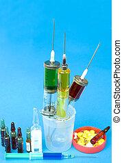 注射器, 以及, ampoules