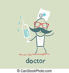 注射器, 醫生