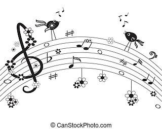 注釋, 音樂
