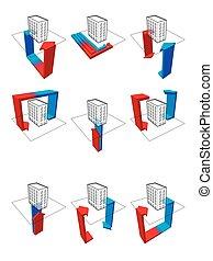 泵, 九, 热, 图形, 显示, 收集, 可能性, 用法, 房子, 公寓, 例子