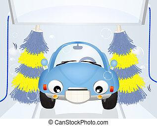 洗いなさい, 自動車