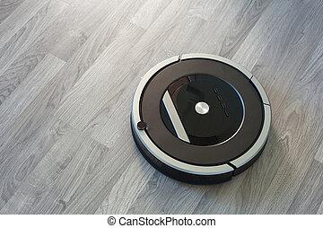 洗剤, 床, laminate, 真空, 木, 清掃, ロボティック, 技術, 痛みなさい