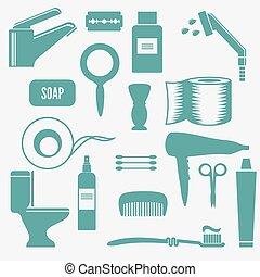 洗手間, 矢量, 圖象