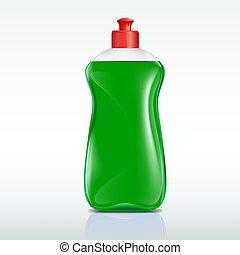 洗浄剤, びん, プラスチック