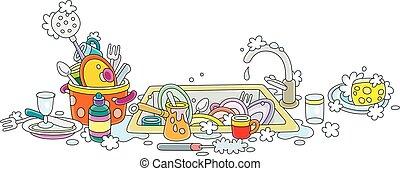 洗涤菜, 在正餐后