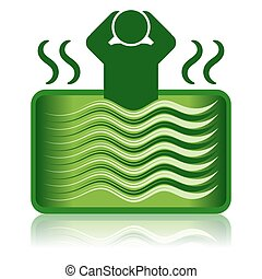 /, 洗澡, 熱, 綠色, 礦泉, 浴盆, 浴缸