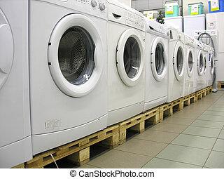 洗濯機, 店