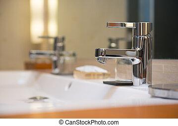 洗面器, ホテル, 現代, 贅沢