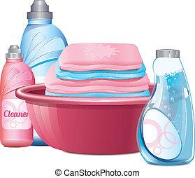 洗面器, 衣服