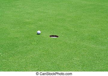 洞, 高尔夫球