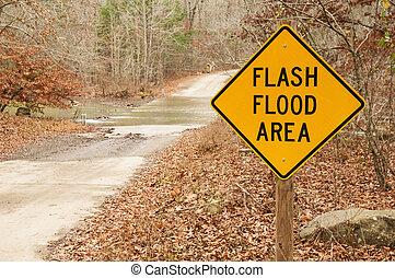 洪水, フラッシュ, 区域, 印