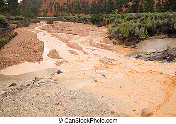 洪水, フラッシュ, 砂漠