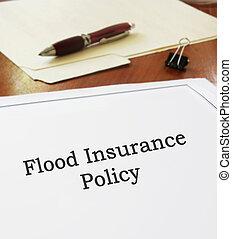 洪水, 保険証券