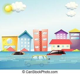 洪水, 大きい都市
