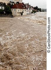 洪水, 後で, 氾濫, 雨