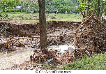 洪水, 残骸