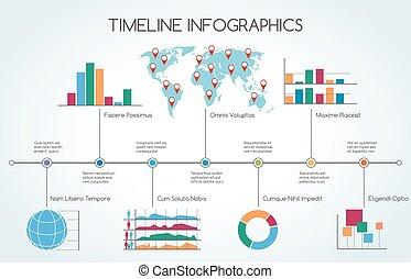 活動時間表, 線, infographic, 圖表