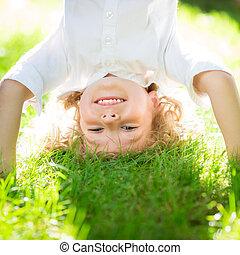 活動的, 子供, 遊び, 屋外で