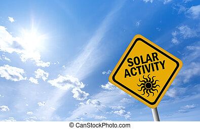 活動, 太陽, 印