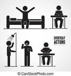 活動, 毎日