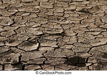 活気がない, 割れた, 土壌