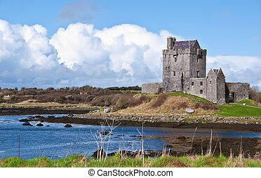 活気に満ちた, アイルランド, 城, アイルランド, 西