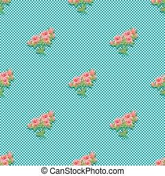 活気に満ちた, 花束, 型, seamless, roses., パターン, design.