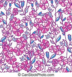活気に満ちた, seamless, フィールド, 背景 パターン, 花