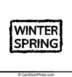 活版印刷, 春, 冬, デザイン, イラスト