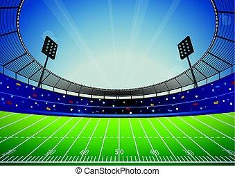 活躍の舞台, アメリカン・フットボールの 競技場