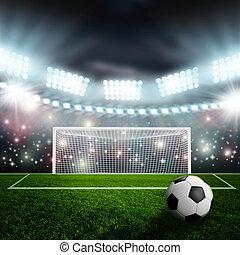 活躍の舞台, サッカーボール, 緑, 競技場