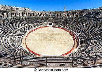 活躍の舞台, nimes, 戦い, amphitheater), 雄牛, (roman, フランス