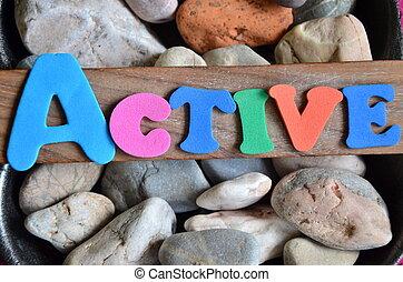 活躍, 詞, 上, 摘要