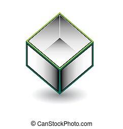 洼地, cube-, 封入, 空间