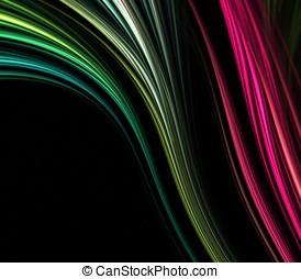 流れること, 繊維, 抽象的