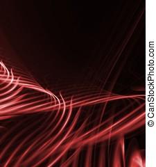 流れること, 赤, 抽象的