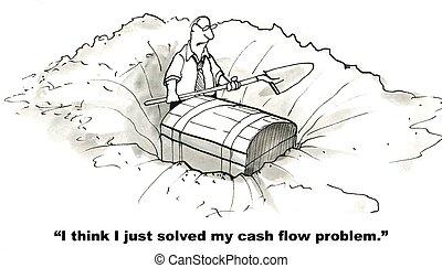 流れ, 現金