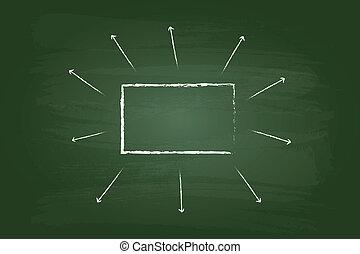 流れ, 長方形, チャート, ビジネス