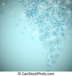 流れ, space., クリスマス, ベクトル, 背景, コピー, 雪片
