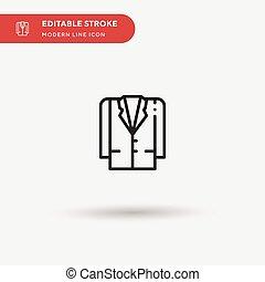 流動, editable, stroke., element., 設計, 网, 完美, icon., 矢量, 短上衣, 你, 簡單, 項目, 圖象, 插圖, 顏色, 樣板, 現代, pictogram, 事務, 符號, ui