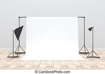 流行, 写真の スタジオ, 内部
