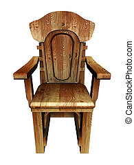 流行, 古い, chair., 木製である