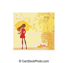 流行, 女, 傘