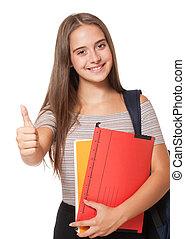 流行, 年輕, student.