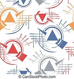 流行, 幾何学的, 生地, 網, 繰り返し, pattern., 背景, 最新流行である, デザイン, design., seamless, 壁紙, テンプレート, card., 手ざわり
