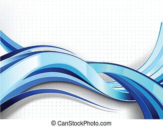 流行, 抽象的, flow., 波