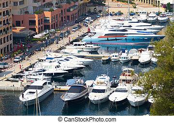 流行, 游艇, 在中, 摩纳哥