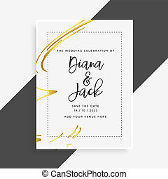 流行, 結婚式, カード, テンプレート, 招待
