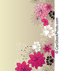 流行, 花, ライト, ピンクの背景