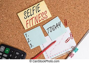 测验, 内部, 纸, 笔记本, 体育馆, selfie, 研究, 图画, 提供, 正文, 桌子, 纸板, 桌子, 意思...